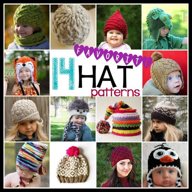 favorite knit crochet hat patterns