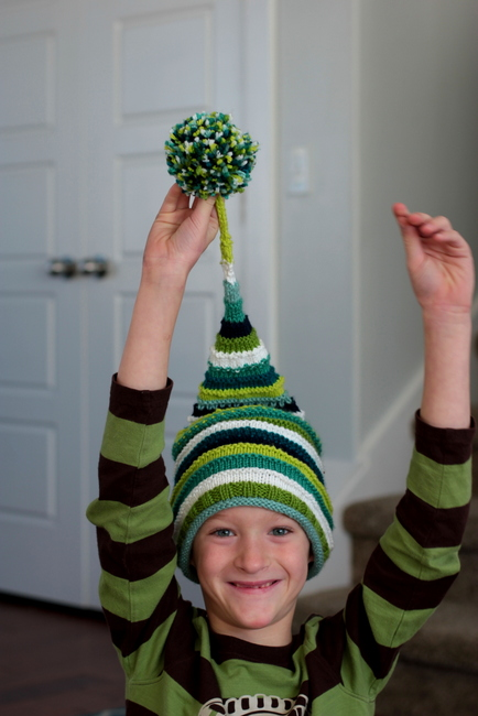 kids knitted hat pattern
