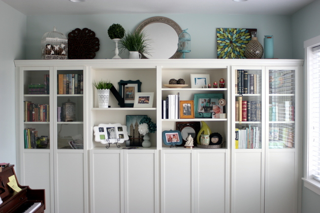 DIY Built In Bookshelves IKEA Billy Hack