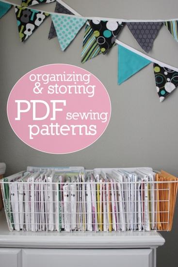 storing pdf sewing patterns