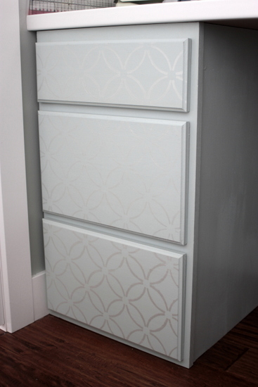 I Chose The Fuji Stencil Pattern To Do Fronts Of Cabinets And Love How They Turned Out
